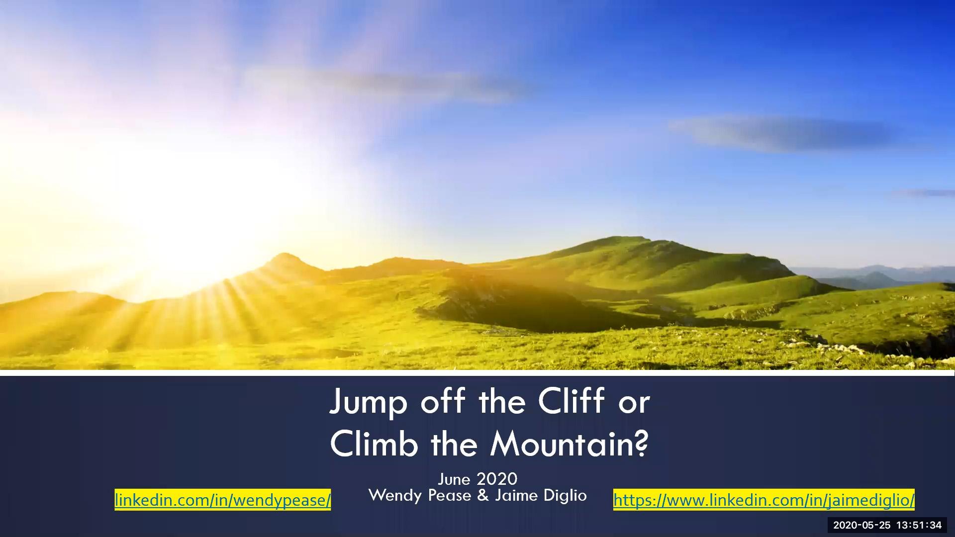 jump off cliff - original