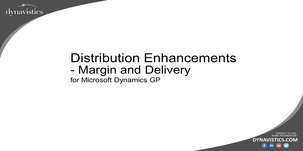 Managing Inventory Margin and Delivery in Dynamics GP