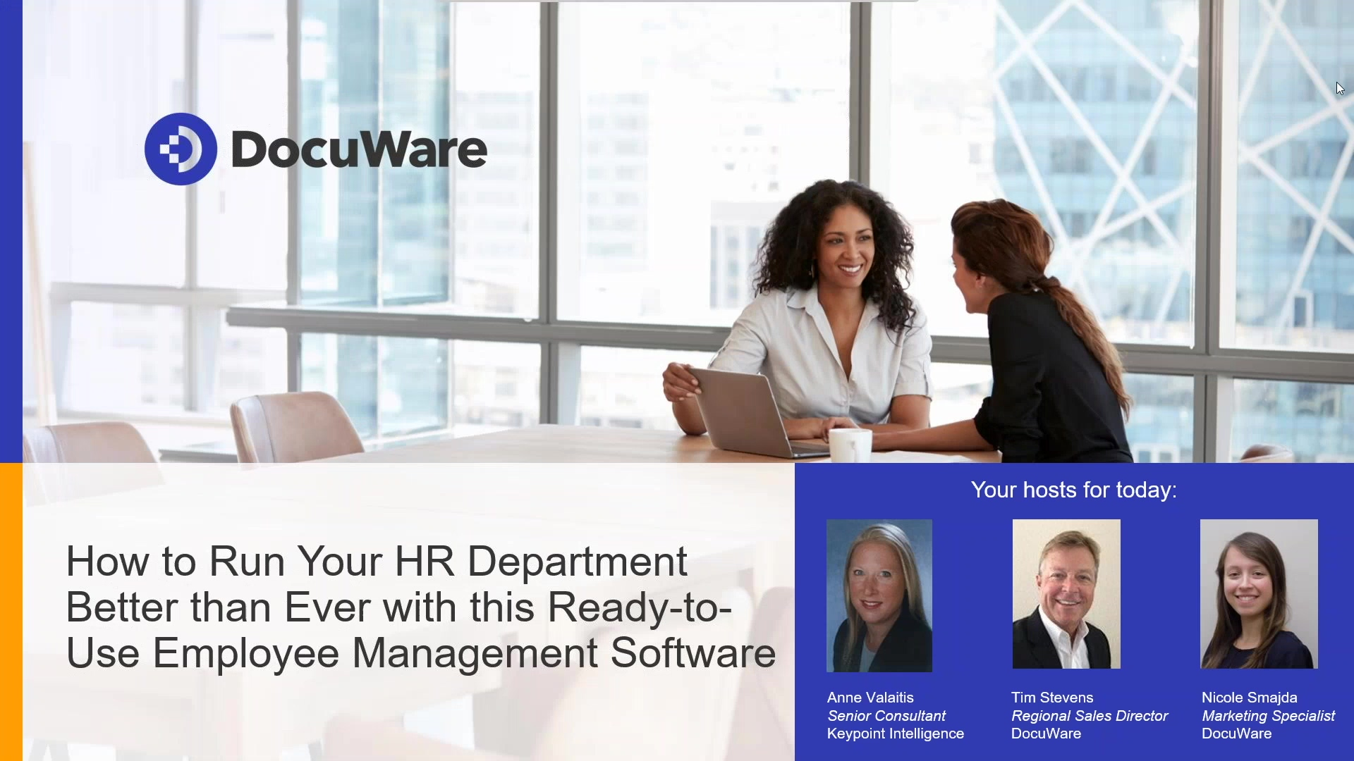 Simplify HR Workflow Processes in Just Days with DocuWare Solution for Employee Management