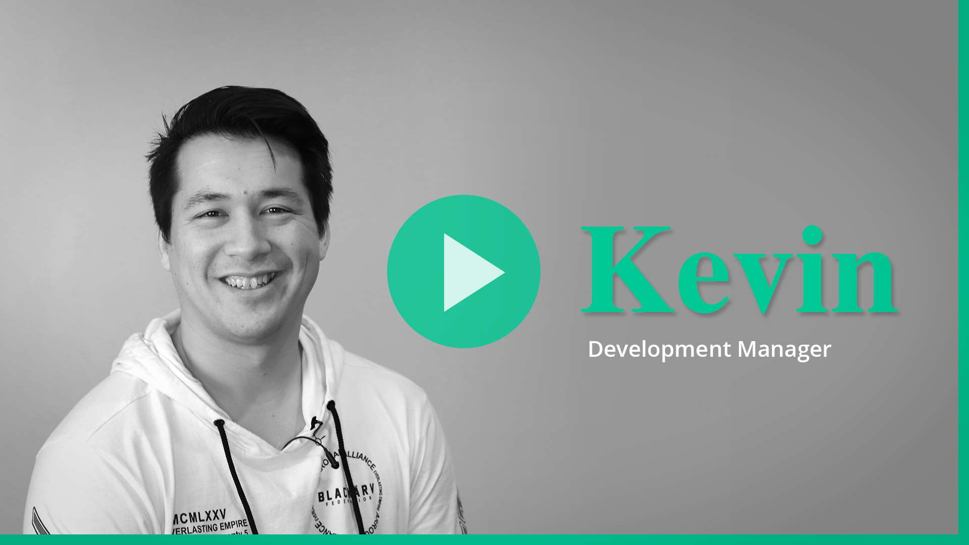 Kevin video for Career page