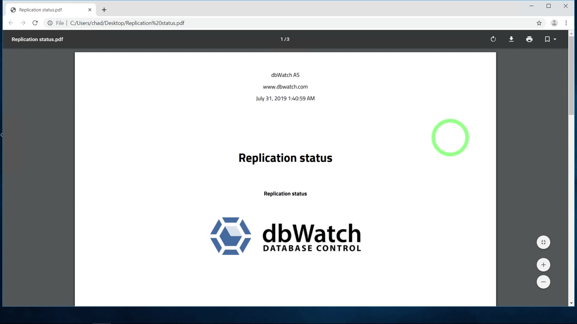 dbWatch Episode 8 July 30 2019