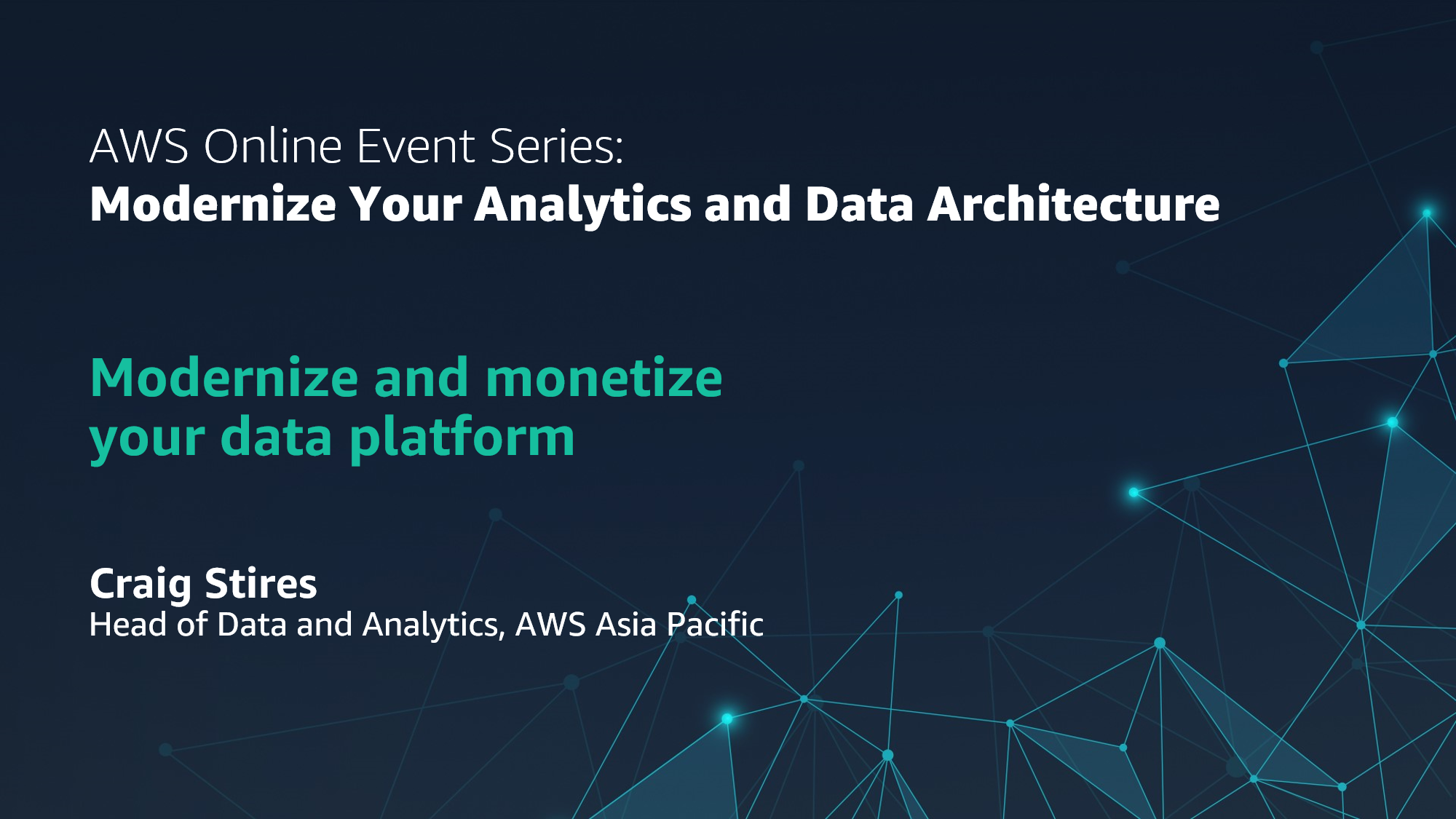 Modernize and monetize your data platform