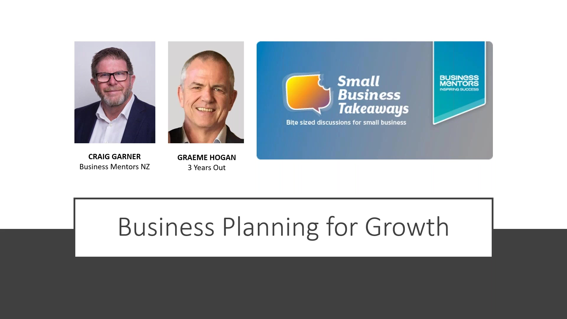 Business Mentors NZ Small Business Takeaways_ Business Planning for Growth
