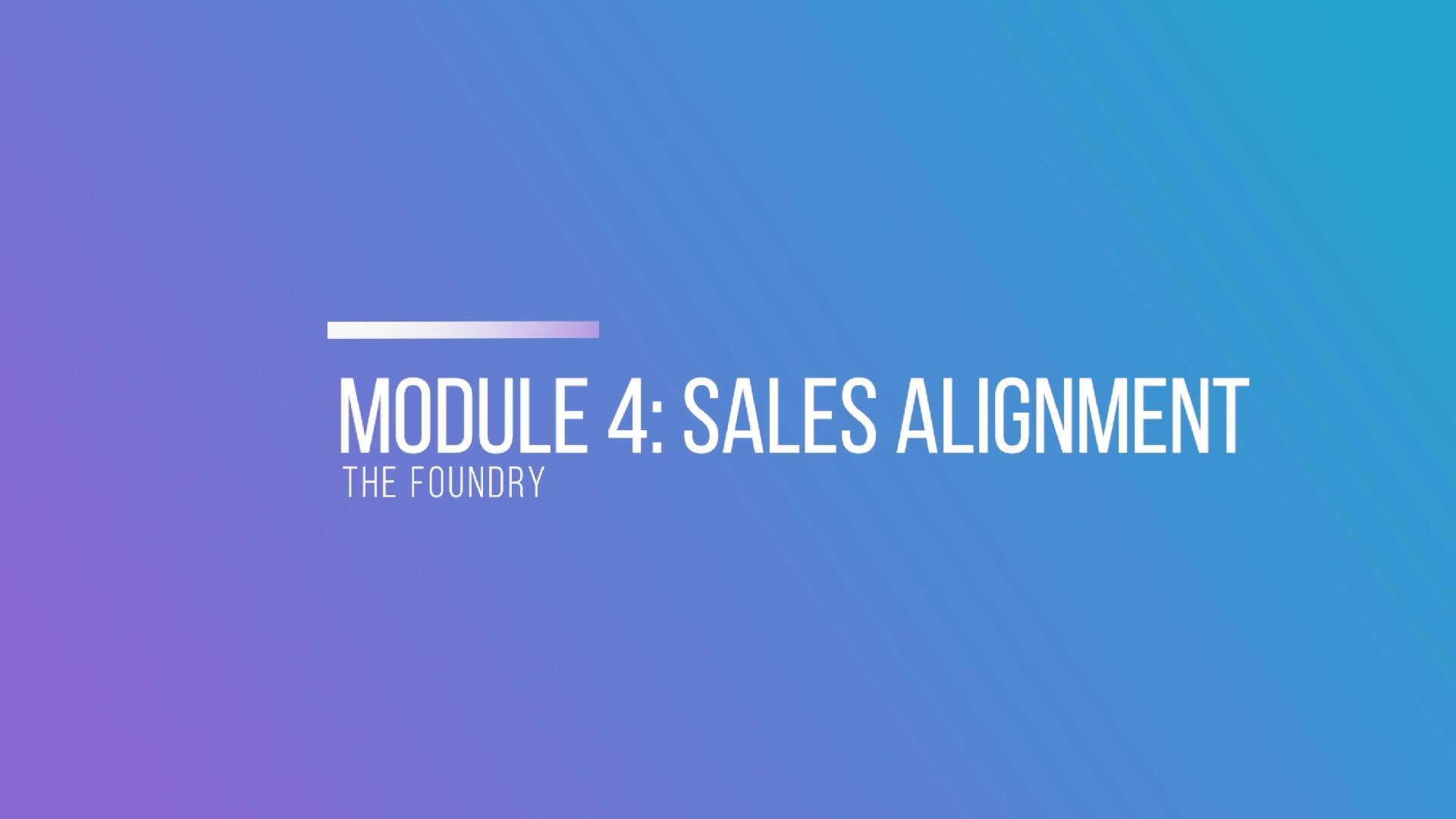 Module 4- Sales Alignment