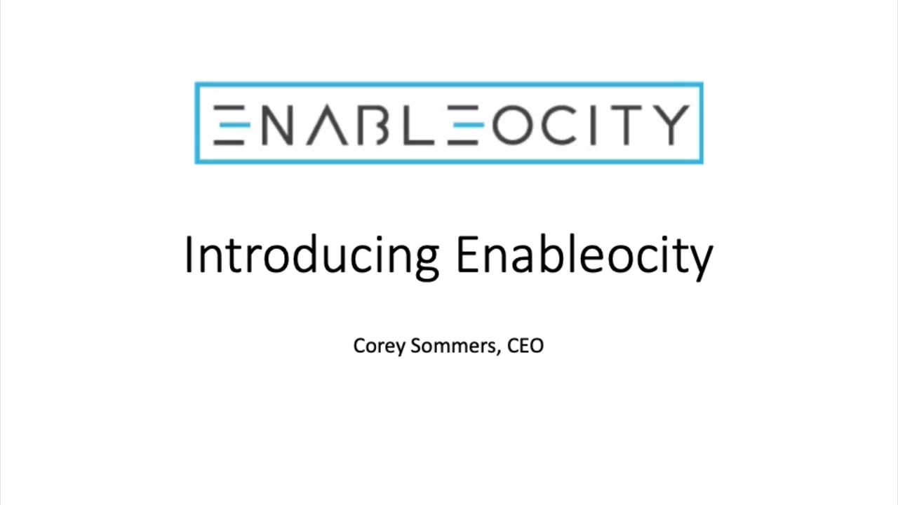 Introducing Enableocity.V1.2