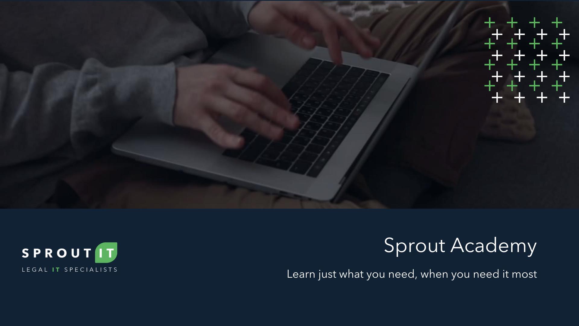 Sprout Academy Bitesize Video