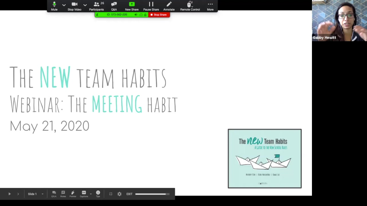 Webinar 521 - NTH Meeting Habit
