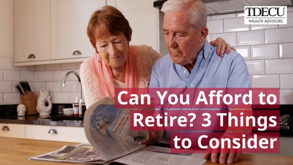 Video #1 - Can you afford to retire?