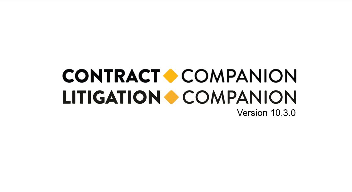 Contract and Litigation Companion Q2 2019