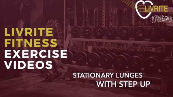 Stationary lunges with step up