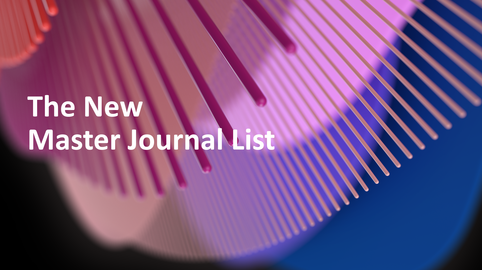 The New Master Journal List
