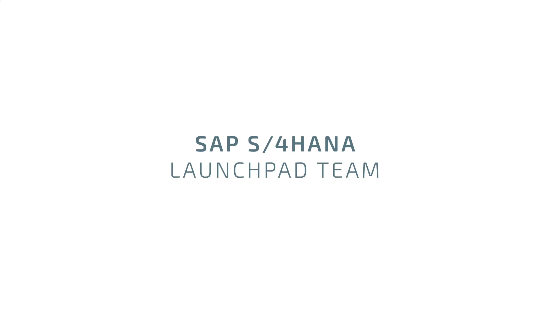 S4H LaunchPad Team - EN subs