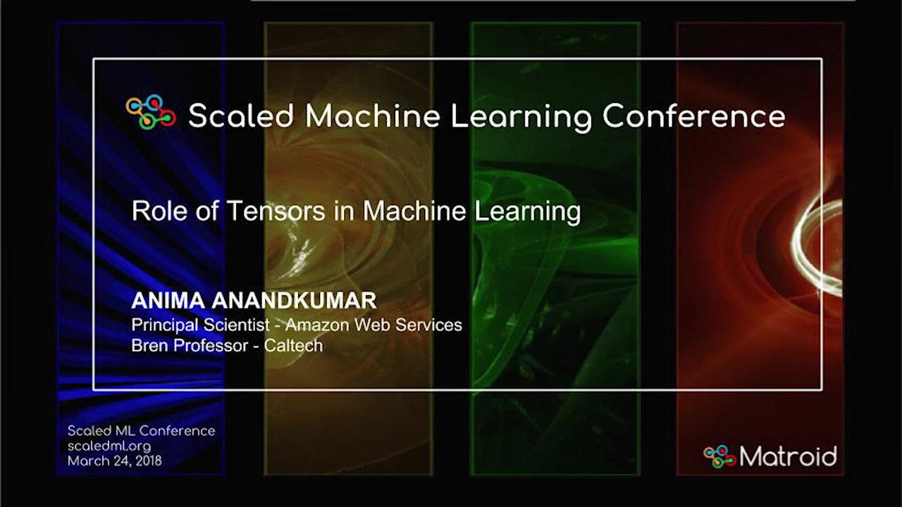 Anima Anandkumar - Role of Tensors in Large-Scale Machine Learning