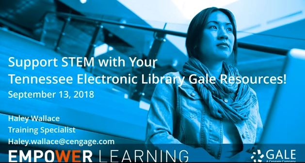 Support STEM with your Tennessee Electronic Library Gale Resources TEL Thumbnail