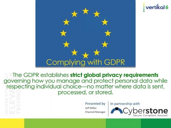 GDPR Webinar Jan 19
