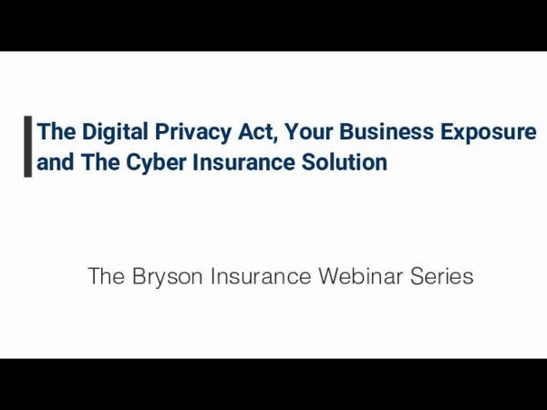 Cyber Insurance Webinar - Kyle Gray
