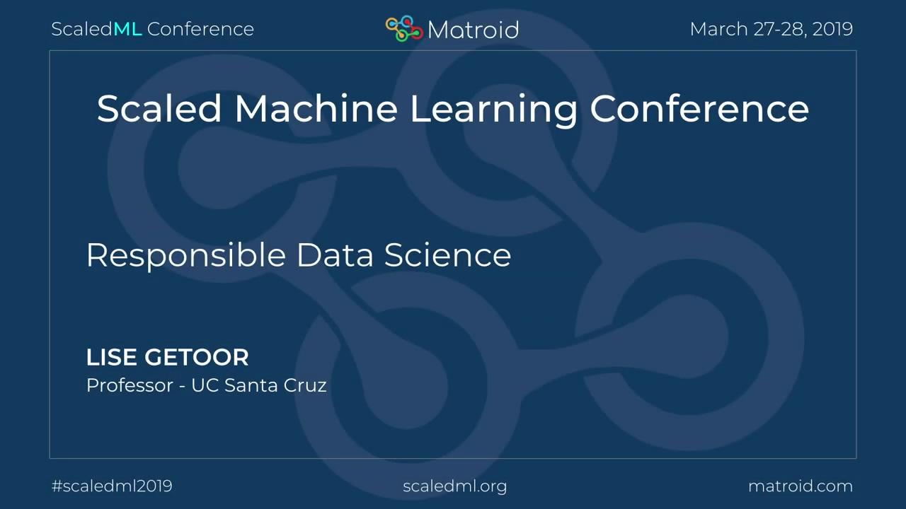 Lise Getoor - Responsible Data Science