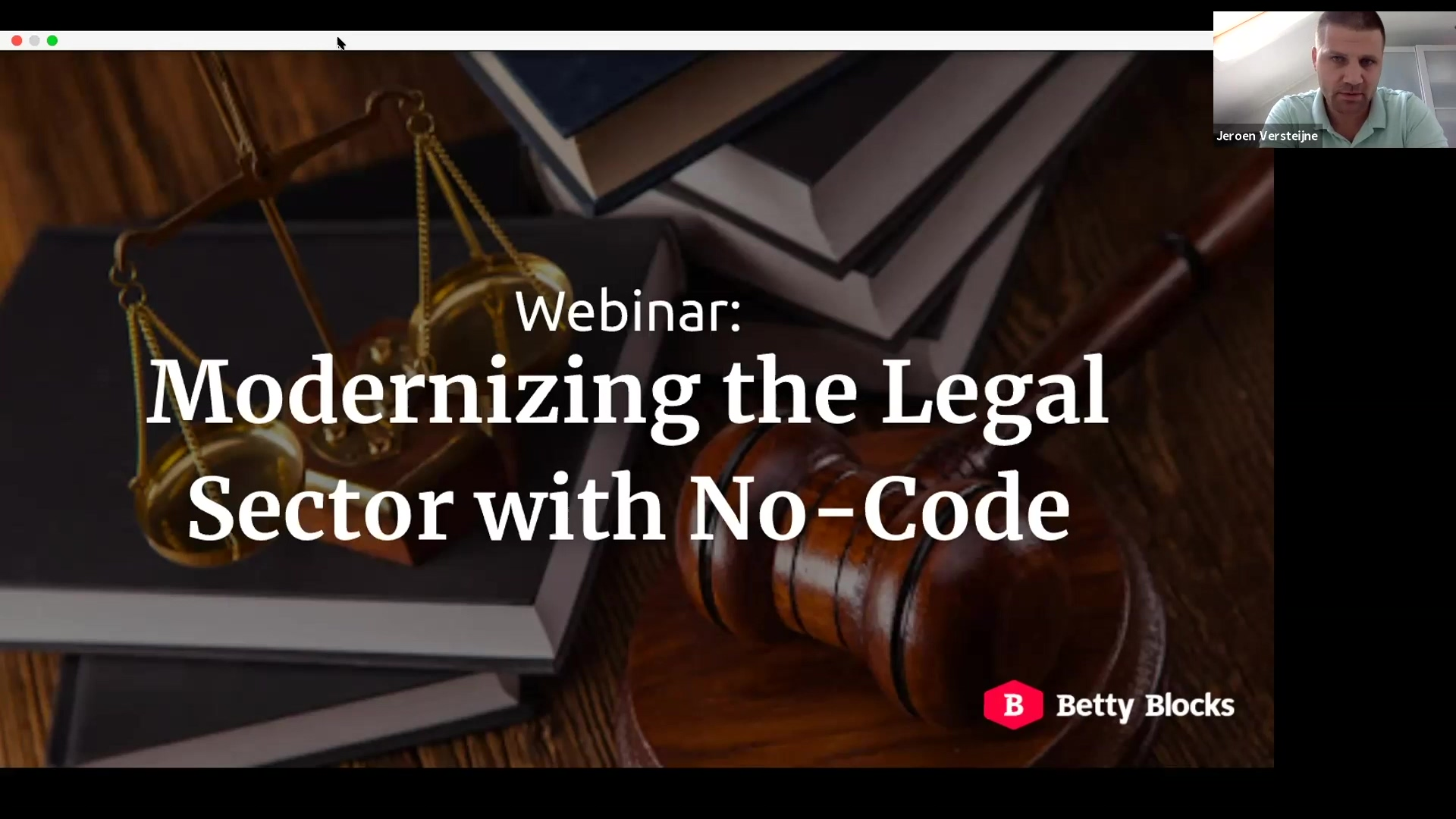 Webinar 12 Modernizing the Legal Sector with No-Code recap video