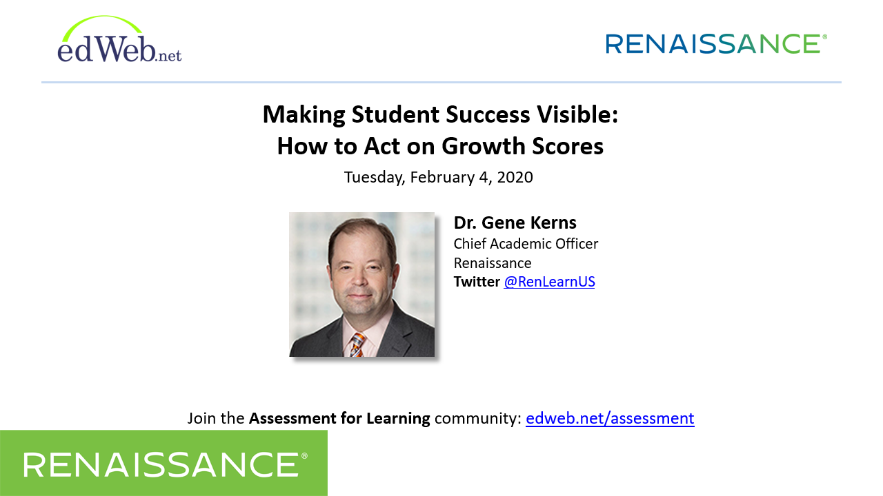 Making Student Success Visible: How to Act on Growth Scores