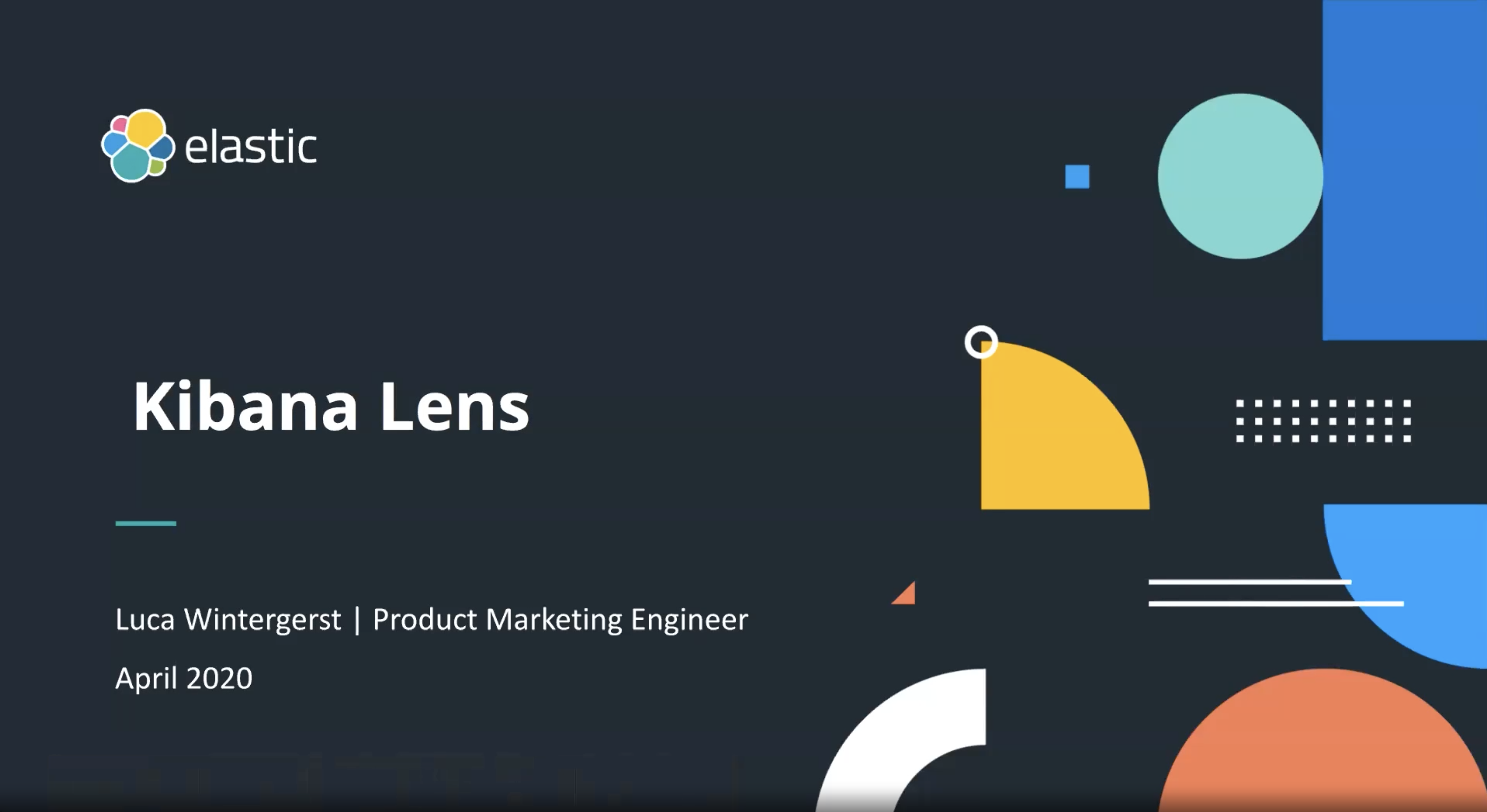 Video for Kibana Lens: An easy, intuitive way to visualize data
