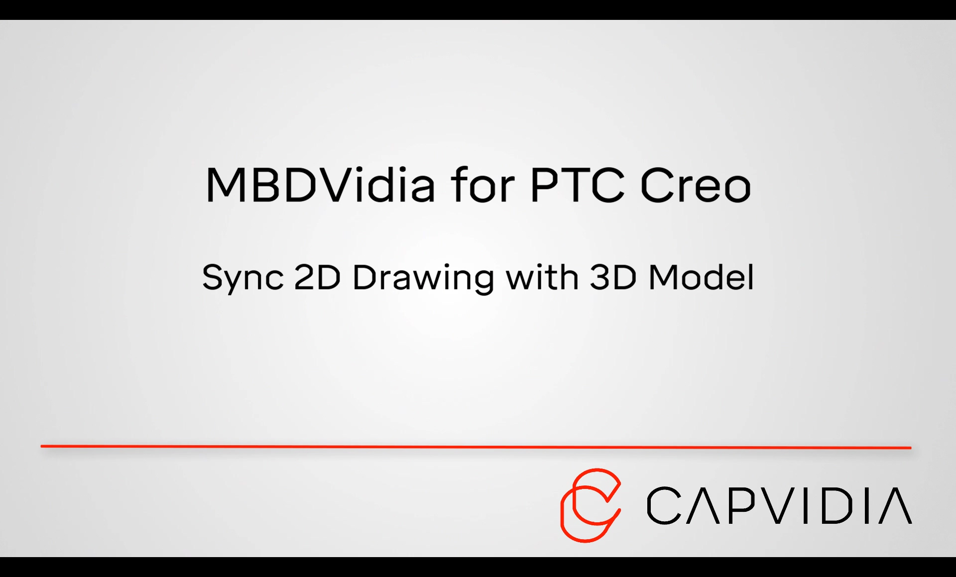 1- MBDVidia (PTC Creo - Sync 2D Drawing With 3D Model)