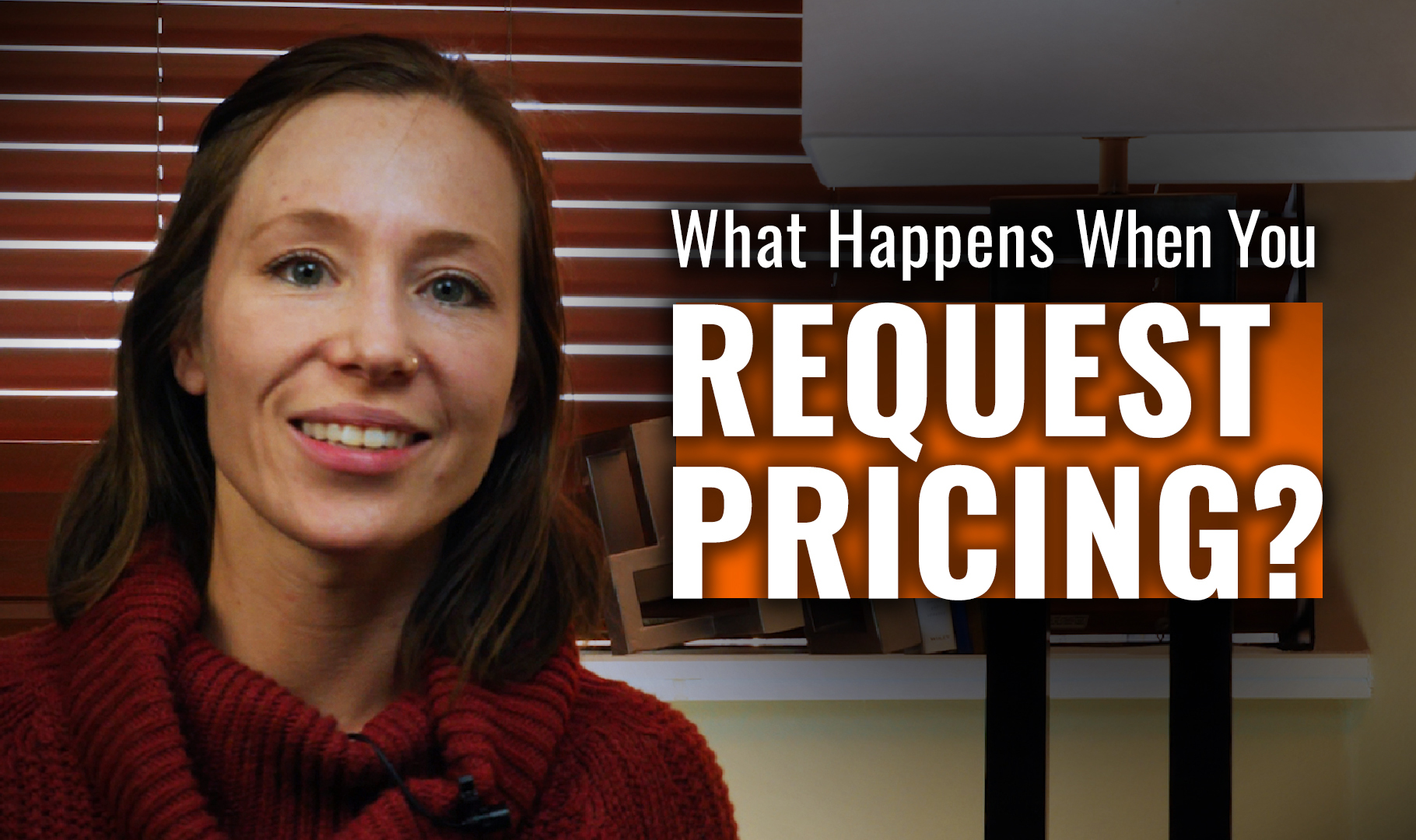 What happens when you request pricing?