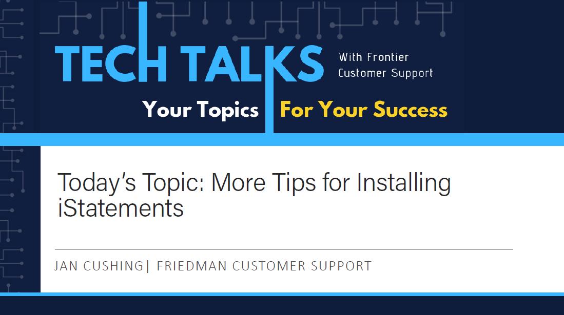 FC TT Installing iStatement Part2