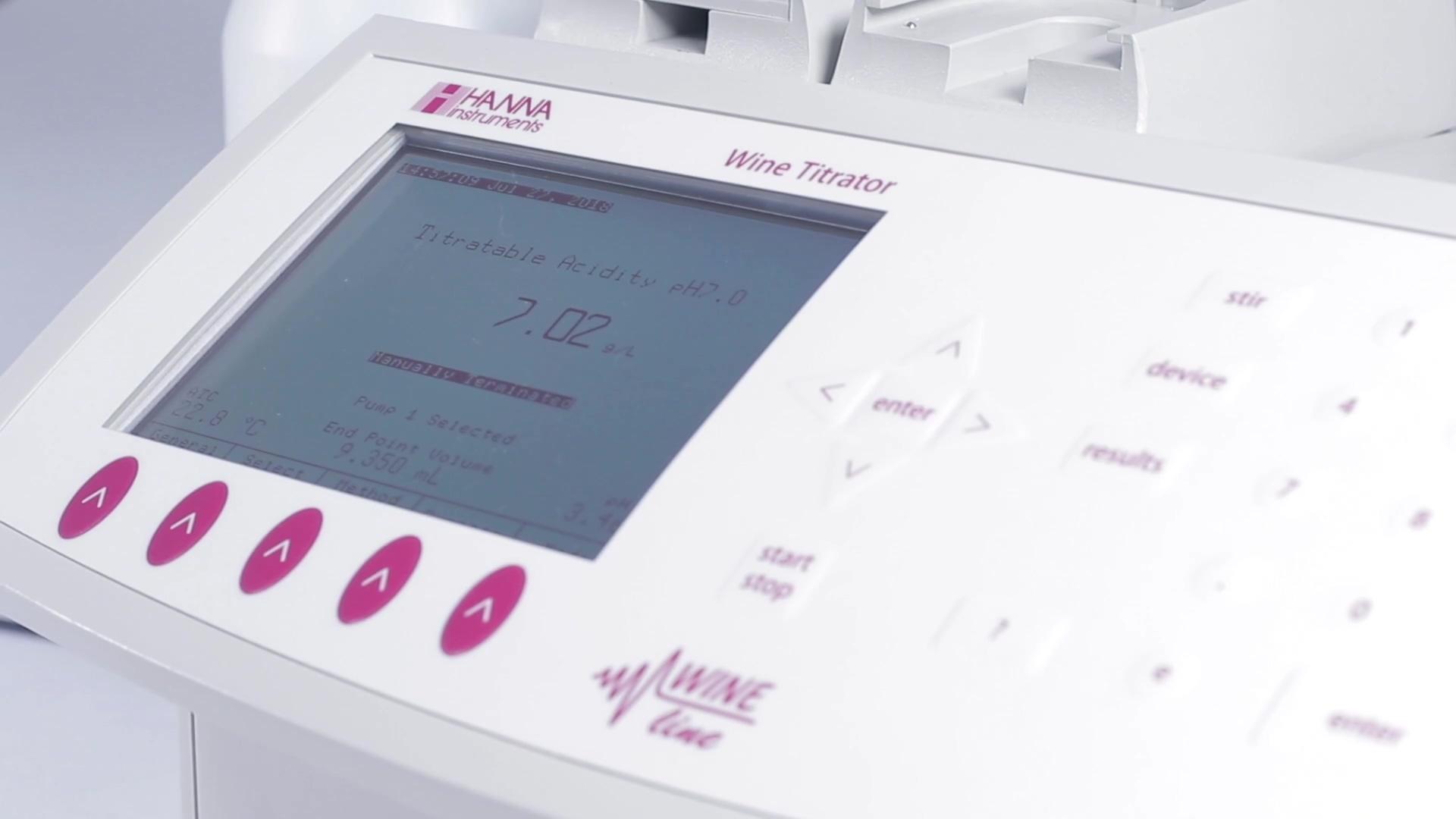 HI901W Automatic Wine Titrator