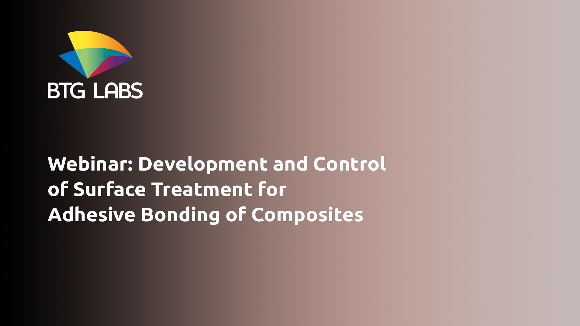 Development and control of surface treatments for adhesive bonding of composites