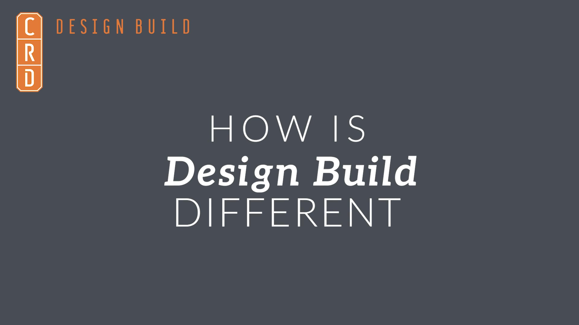 How Is Design Build Different - Leslie