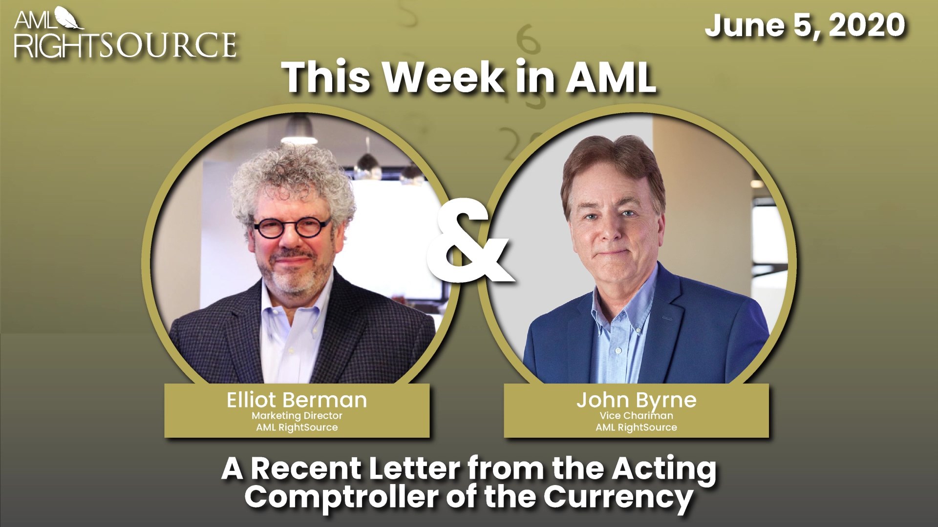 This Week in AML - A Recent Letter from the Acting Comptroller of the Currency