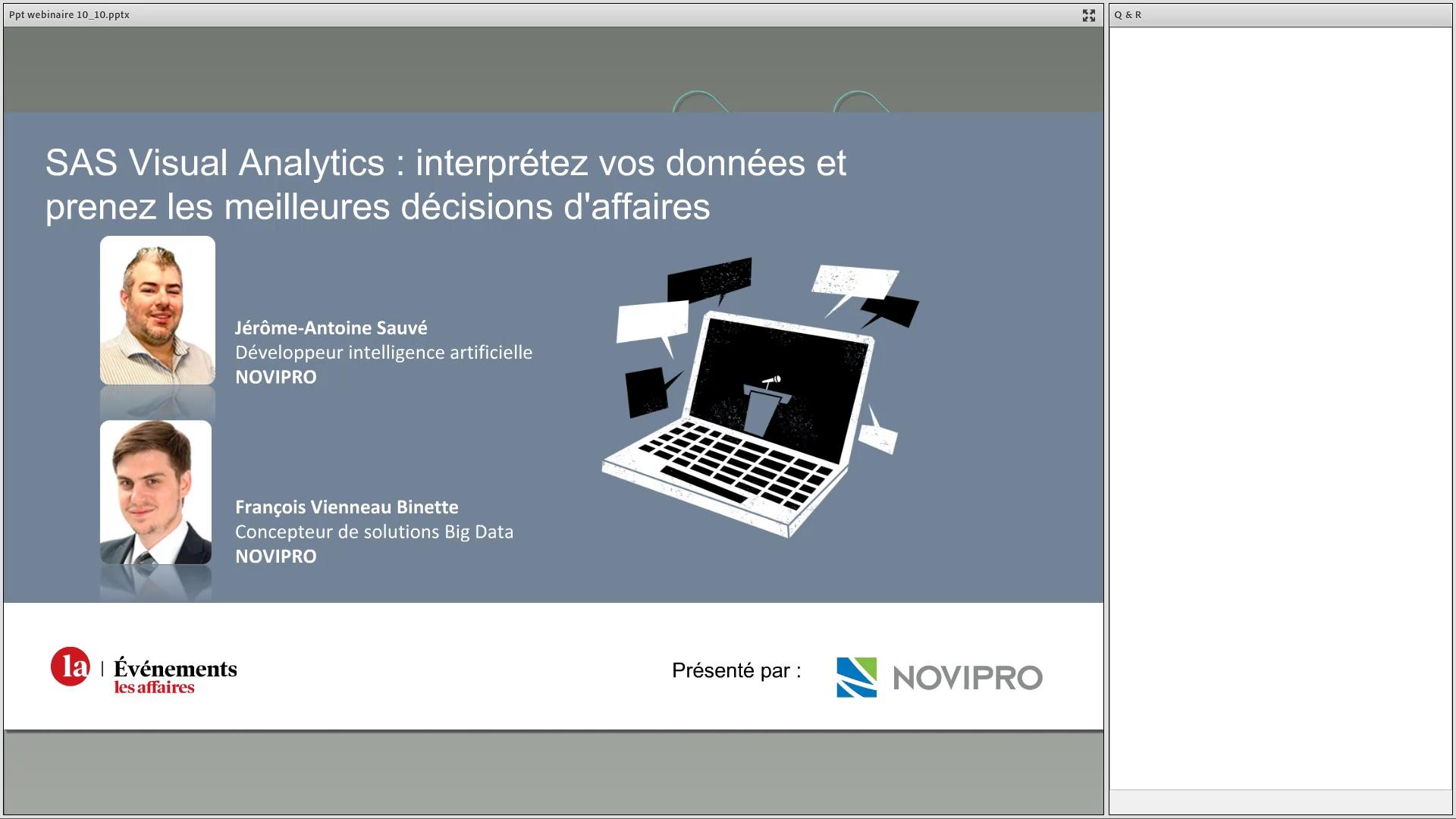 Webinaire – SAS Visual Analytics _ interprétez vos données et prenez les meilleures décisions d'affa