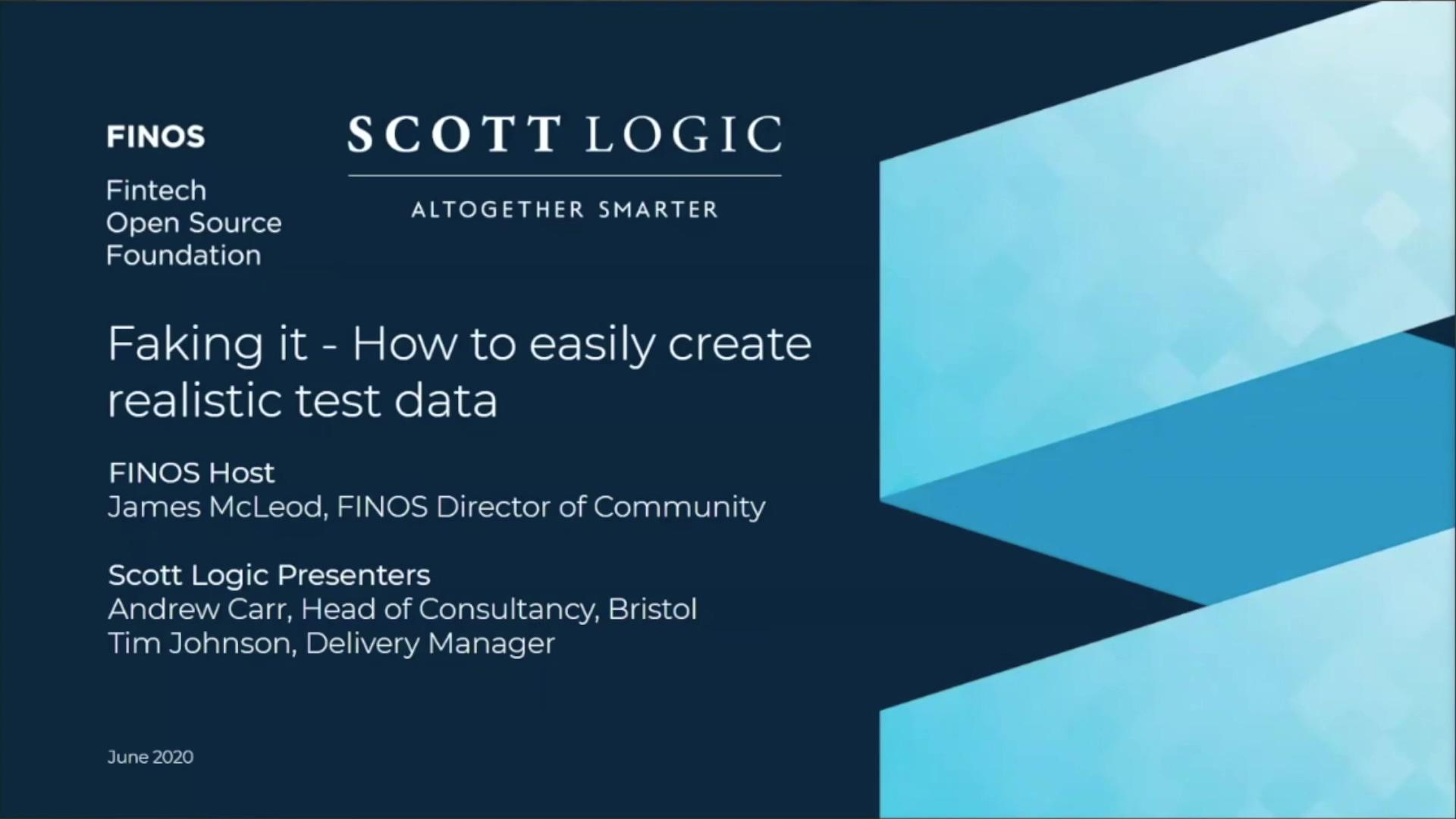 FINOS Meetup - Scott Logic - 04 June 20