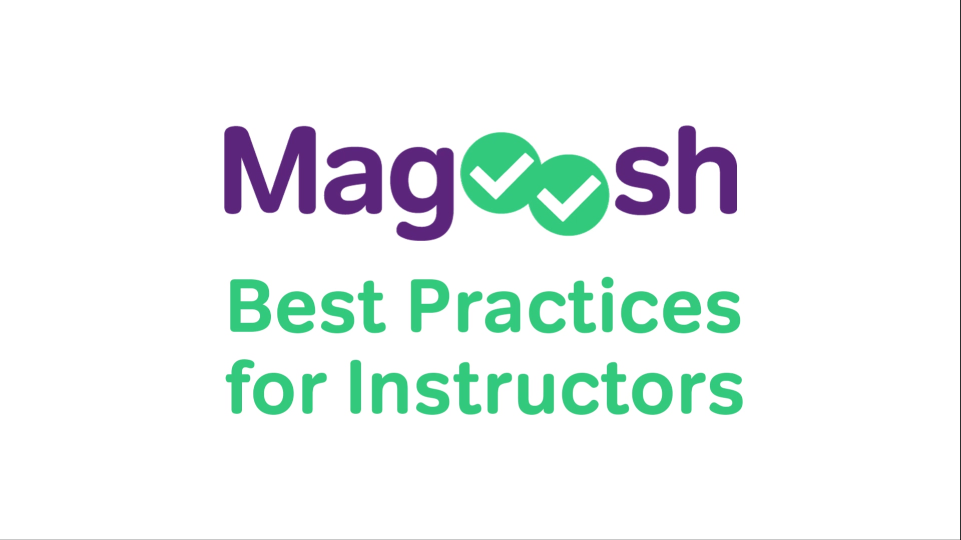 Magoosh Best Practices for Instructors