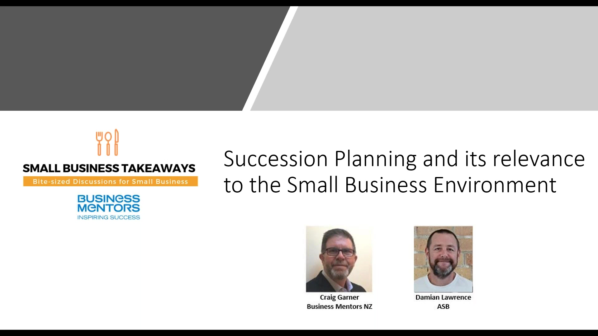 Business Mentors NZ_ Small Business Takeaways - Succession Planning and its relevance to Small Busin