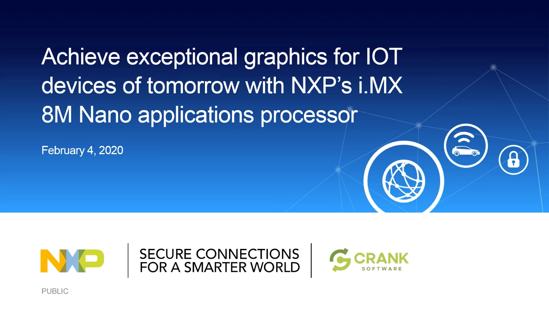 Achieve exceptional graphics for IOT devices of tomorrow with NXP i.MX 8M Nano applications processo