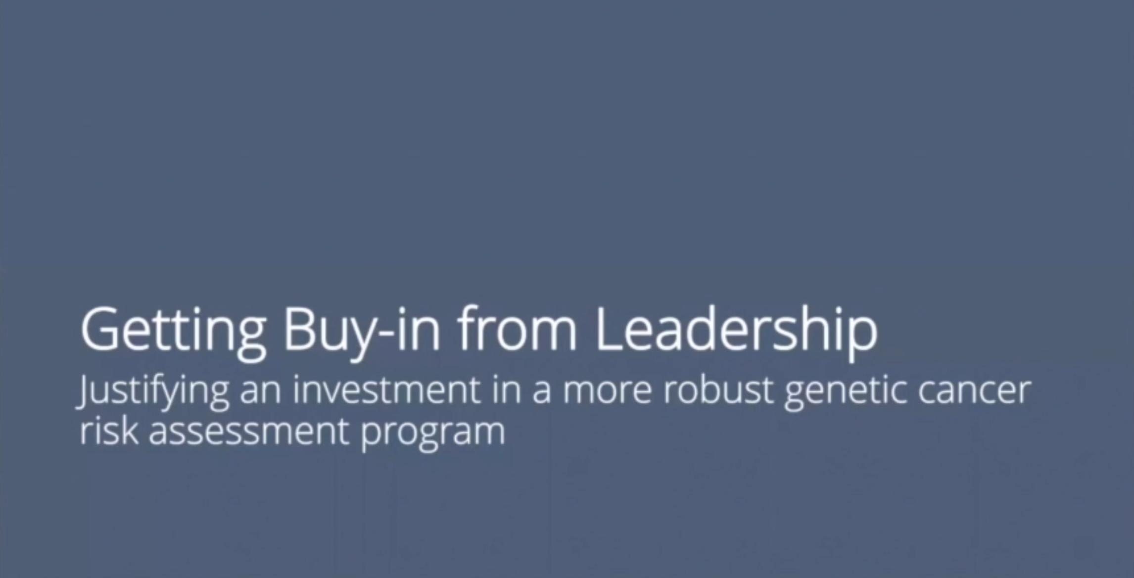 05 Buy-in from leadership
