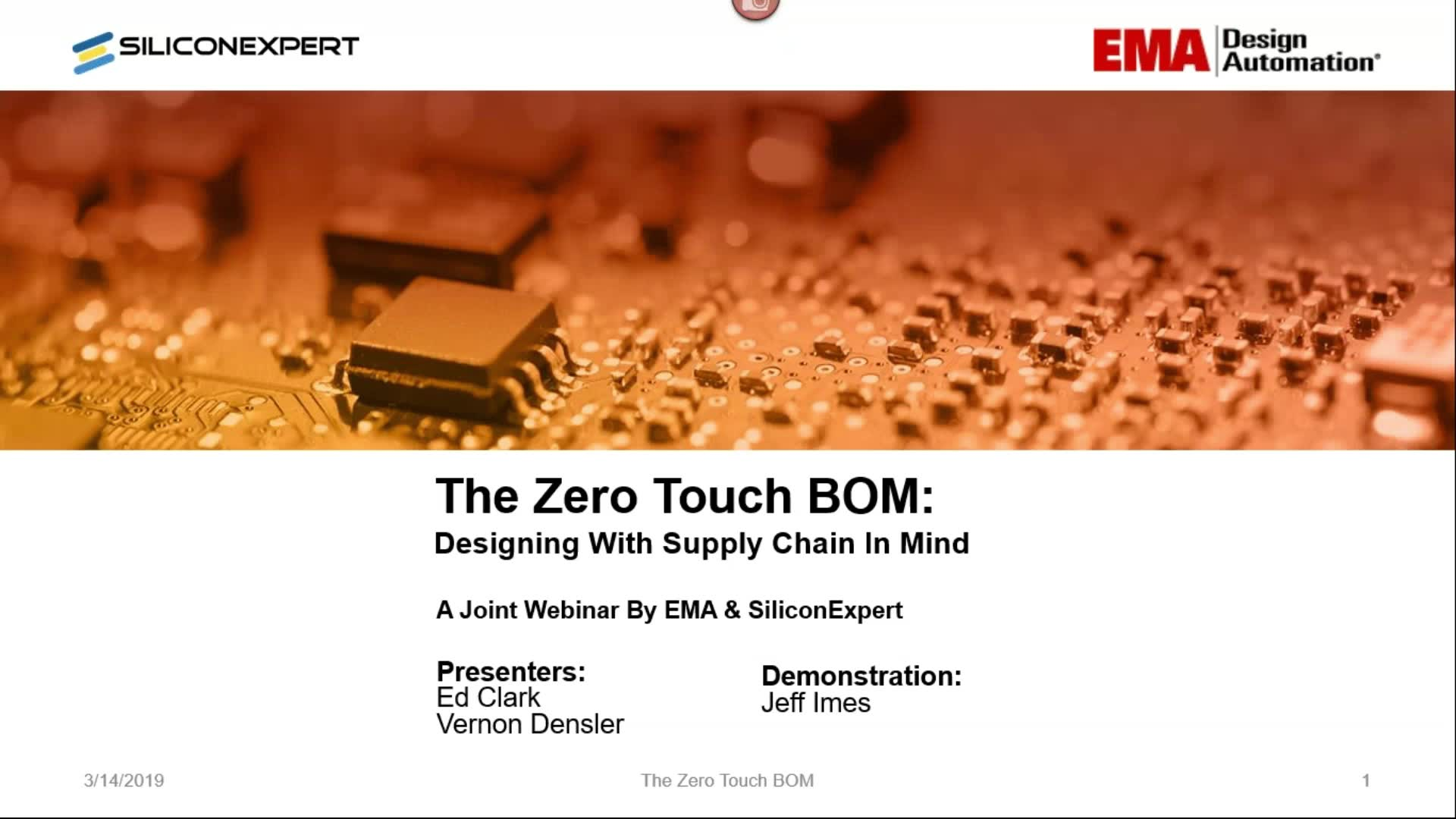 On-Demand Webinar: The Zero Touch BOM: Prevent Component Sourcing Issues Before they Happen