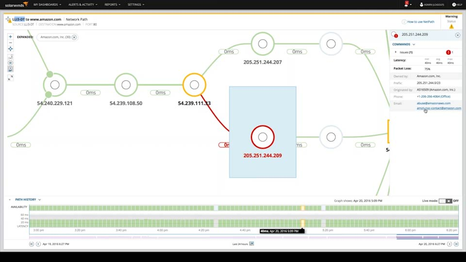 Network Mapping Tool Map Network In Outside Firewall SolarWinds - Graphical network mapping tool