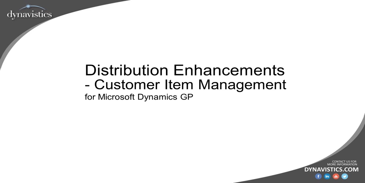 Advanced Customer Item Management in Dynamics GP