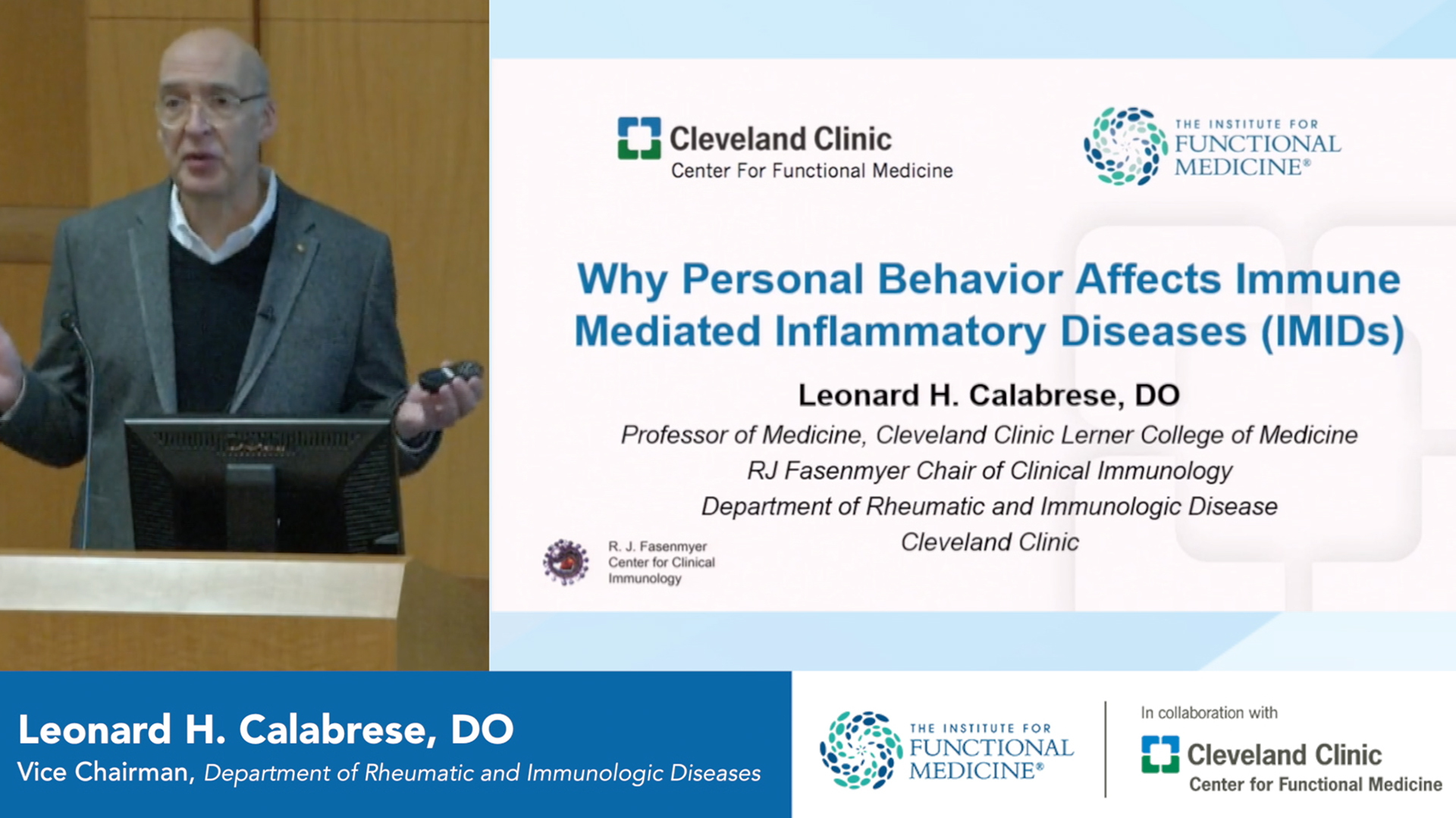 Why Personal Behavior Affects Immune Mediated Inflammatory