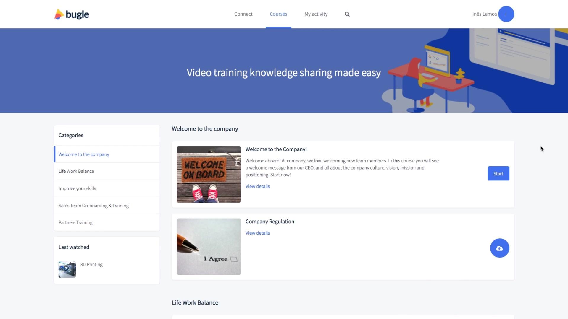 bugle Video training video