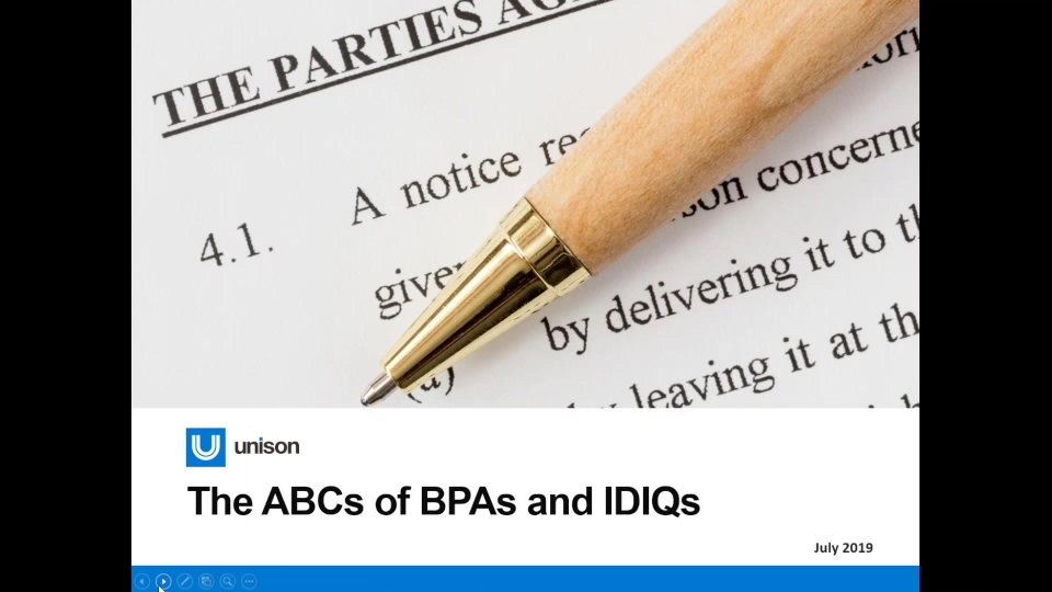 2019 The ABCs of BPAs and IDIQs