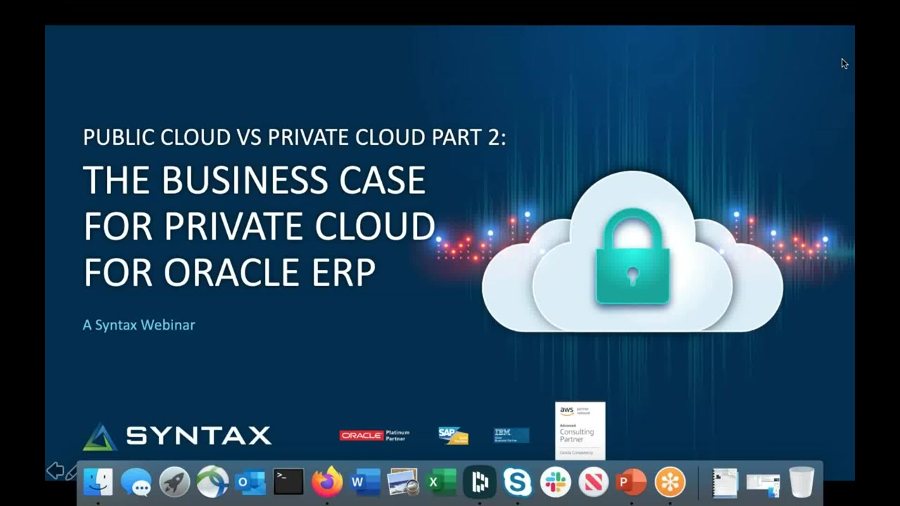 Syntax Public Cloud vs Private Cloud Part 2- The Business Case for the Private Cloud for Oracle ERP