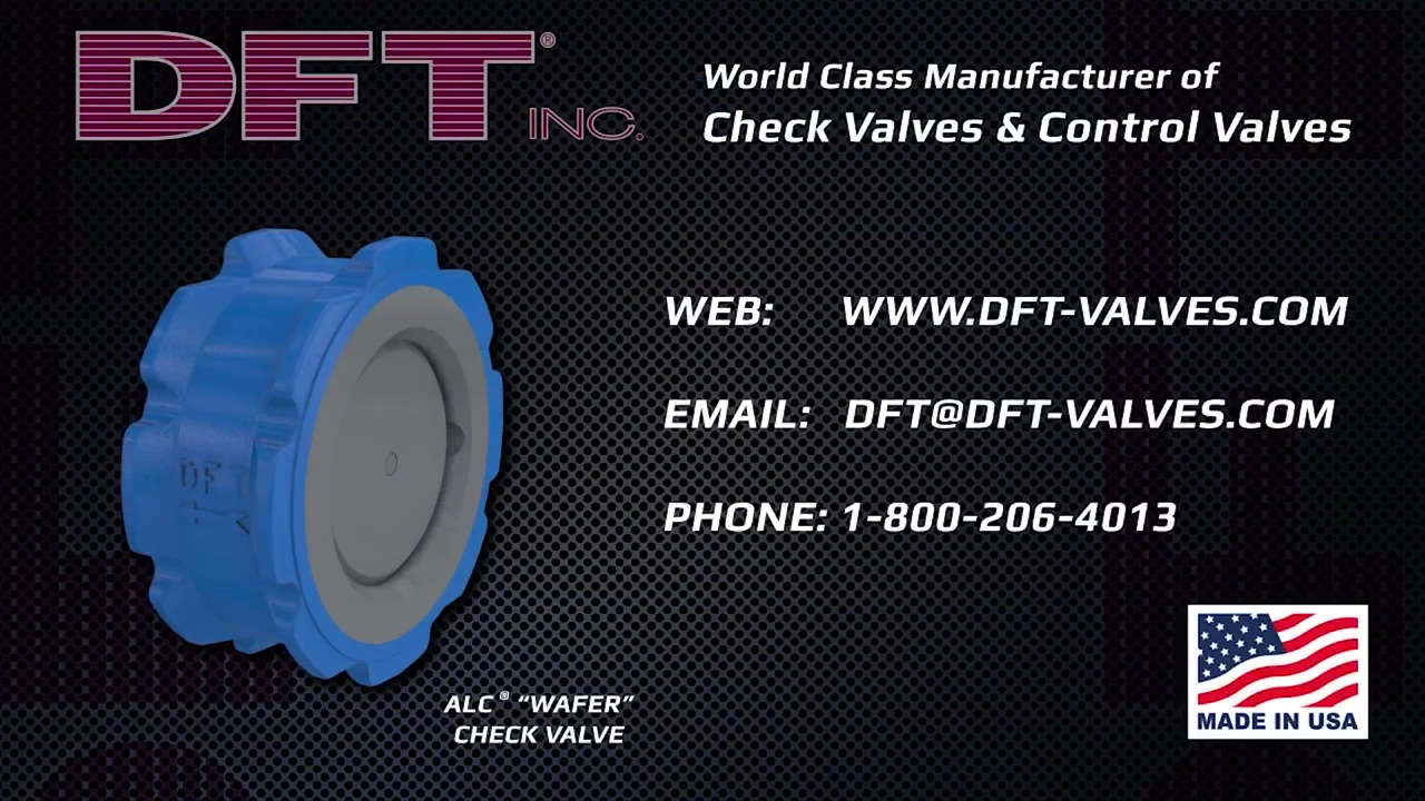 Stop Water Hammer with the DFT ALC® Wafer Check Valve