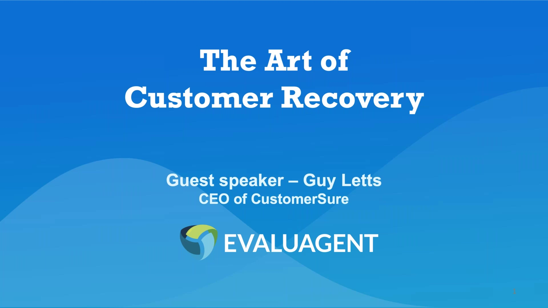 The Art of Customer Recovery _ What is it and why should we all be doing it_