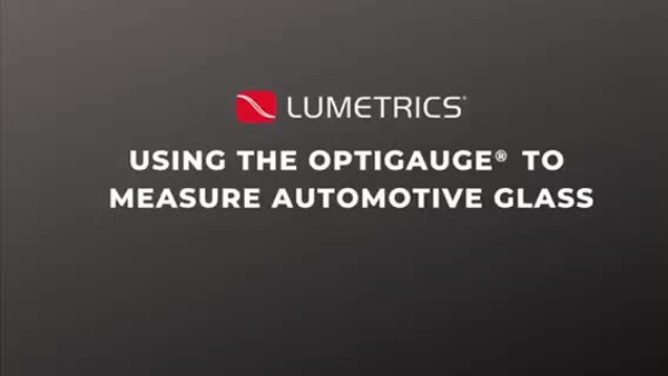 Automotive Glass Measurement Movie