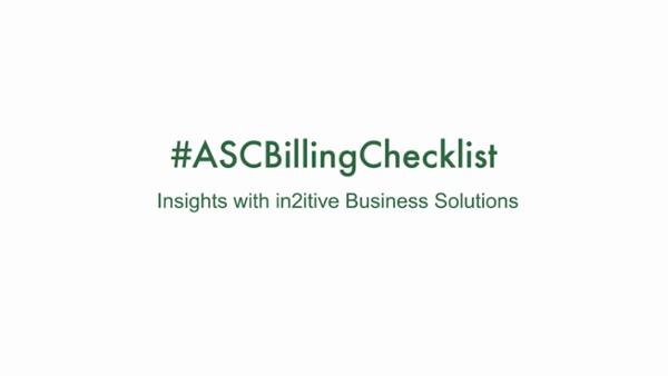 ASC Billing Checklist