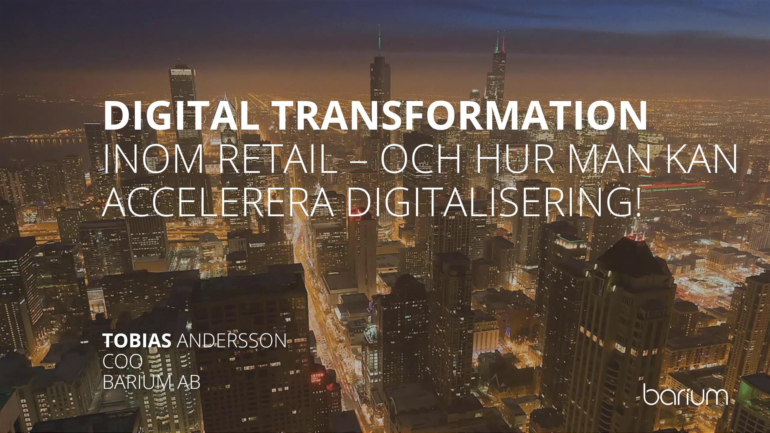 Webinar - Barium - Den digitala revolutionen inom retail