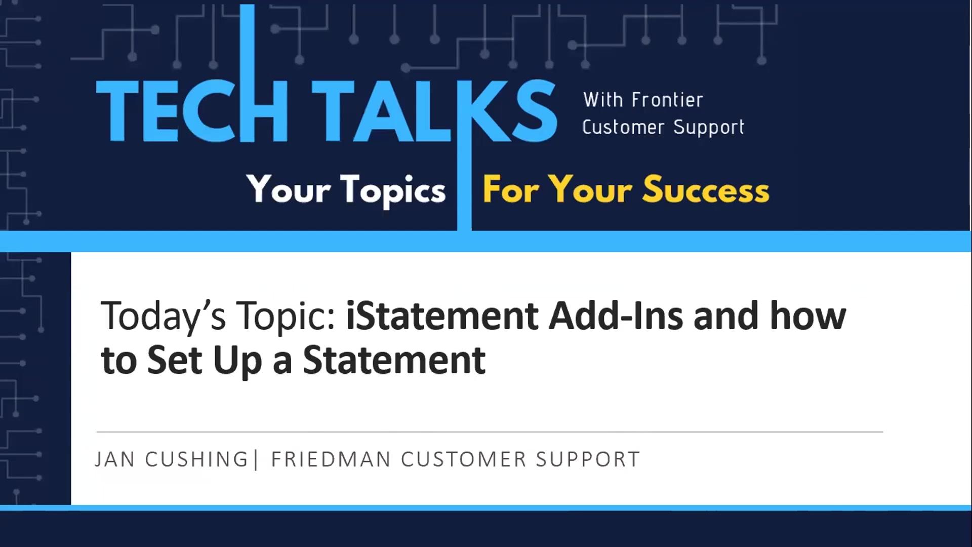TechTalk-Statement-Setup-iStatement-Add-ins